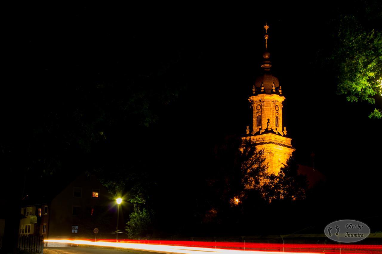 Kirche Bindlach Lichtspur
